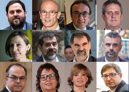 The 12 pro-independence leaders who went on trial.
