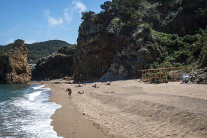 Illa Roja nudist beach in Begur, on the Costa Brava in Girona.