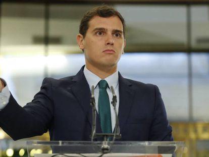 Ciudadanos leader Albert Rivera.