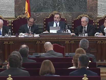 Catalan separatists on trial at the Supreme Court.