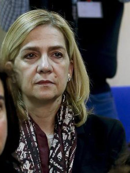 Cristina de Borbón on day one of the trial on Monday.