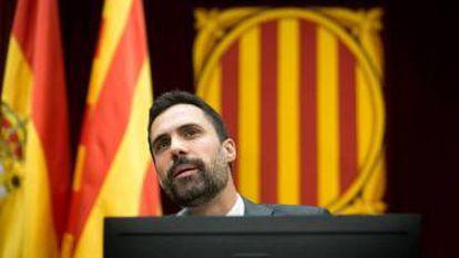 Catalan parliament speaker Roger Torrent.