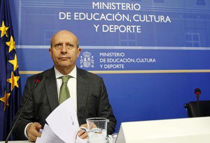 Education, culture and sports minister, José Ignacio Wert.
