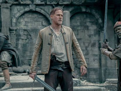 Charlie Hunnam in a scene from the new 'King Arthur' movie.