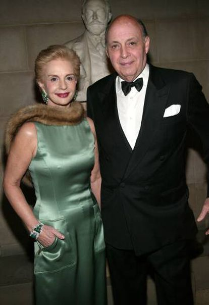 Carolina with her husband Reinaldo Herrera at a 2004 party at the Frick Collection.