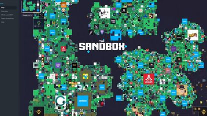 Advertising for crypto game The Sandbox.