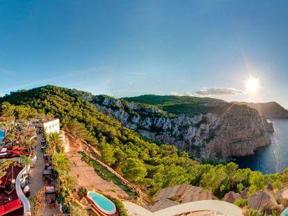 Views from the Hotel Hacienda Na Xamena, in Sant Miquel de Balansat, in Ibiza.