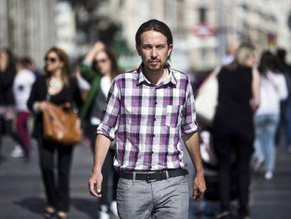 Pablo Iglesias, leader of Podemos, in Madrid on Monday.