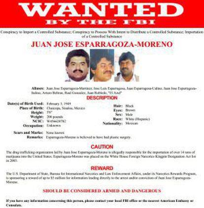 EL Azul's file on the FBI data base.