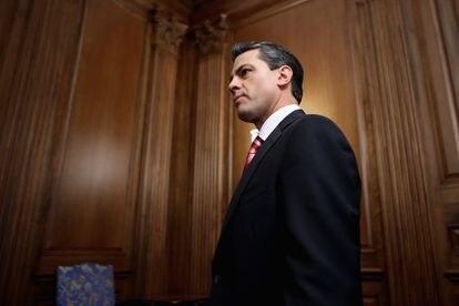 Former Mexican President Enrique Peña Nieto at a meeting in Washington in November 2012.