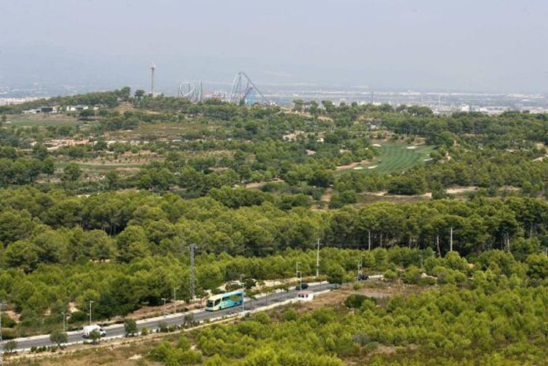 The area where the new Barcelona World complex will be built.