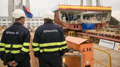The Navantia shipyard in Cádiz.