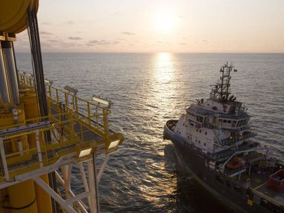 Repsol is using the 'Rowan Renaissance' drillship to search for oil off the Canary Islands coast.