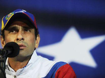 An archive image of Venezuelan opposition leader Henrique Capriles.
