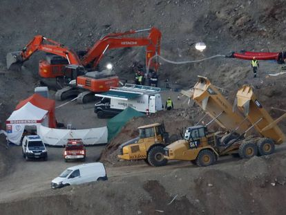 The rescue effort to find Julen Roselló a year ago.