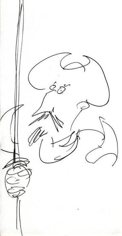 A drawing of Don Quixote by Terry Gilliam for EL PAÍS.
