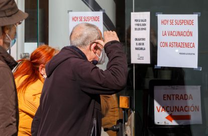 A closed vaccination center in Valladolid on Wednesday.