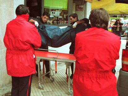 The body of the woman killed in 2000 by Guillermo Fernández Bueno.