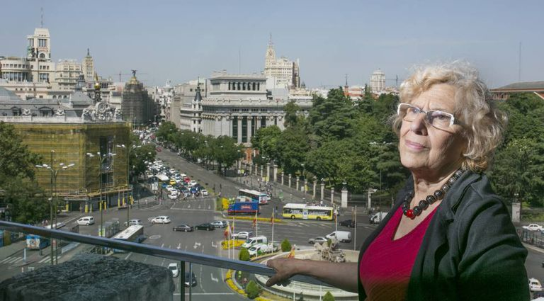 Madrid Mayor Manuela Carmena at City Hall.