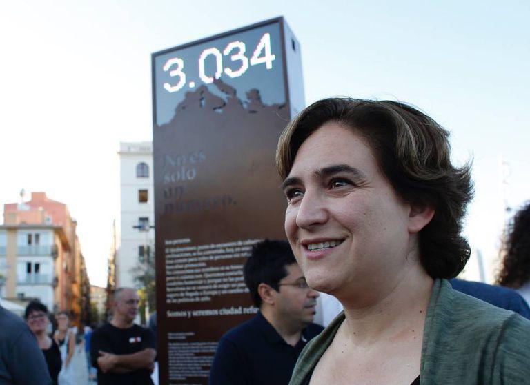 Barcelona's mayor, Ada Colau.