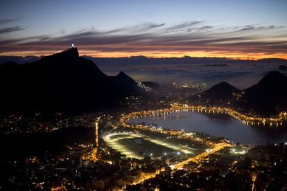 A breathtaking view of Rio at sunrise last month.