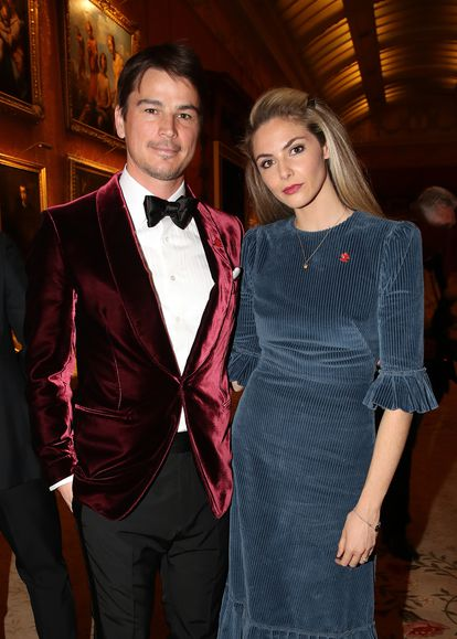 Josh Hartnett and his wife Tamsin Egerton at a dinner event in Buckingham Palace in 2019.