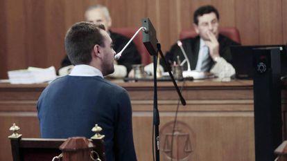 Daniel testifies in court.