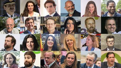 The 24 new deputies in Congress for the far-right Vox party.