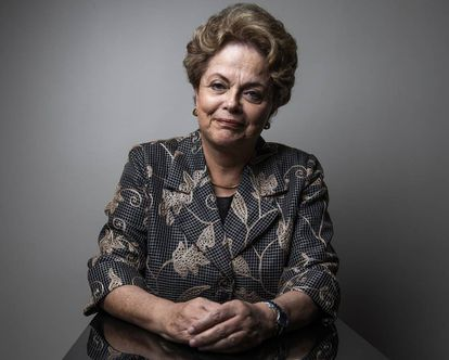 Dilma Rousseff in the offices of EL PAÍS.