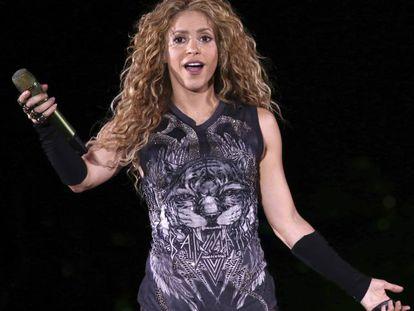 Colombian singer Shakira.