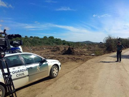 The area near where the emergency services found the body of Artur.