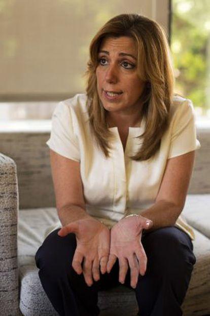 Susana Díaz in Seville earlier this month.