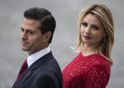 President Enrique Peña Nieto and his wife, first lady Angélica Rivera.