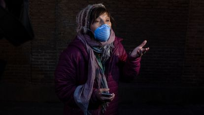 Carolina, the daughter of a 99-year-old woman who died from the coronavirus in Madrid.
