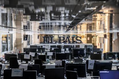 The EL PAÍS newsroom on December 22, 2020.