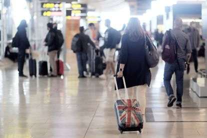 Passengers in the Adolfo Suárez-Madrid Barajas airport this week, after restrictions on arrivals from the United Kingdom were lifted. 24/05/2021