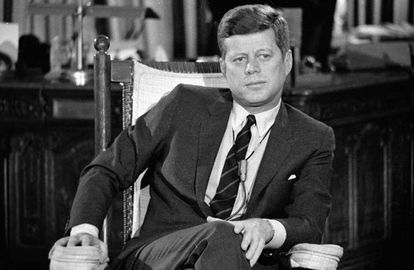 John F. Kennedy at the White House in December 1962.