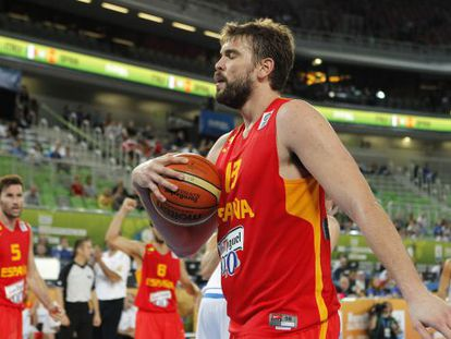 Marc Gasol, during the game against Italy.