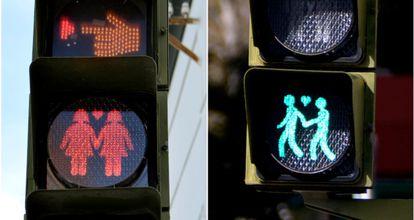 The new traffic lights in San Fernando de Cadiz.