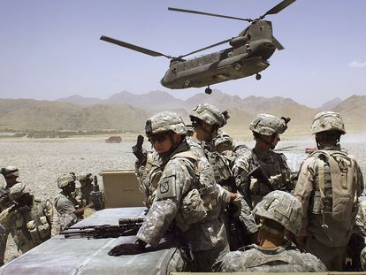 US troops deployed in Afghanistan in an image from 2006.