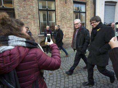 Carles Puigdemont in Bruges on November 25.