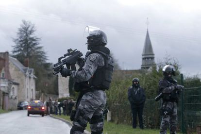 French elite forces search for terrorists last month following the attacks in Paris.