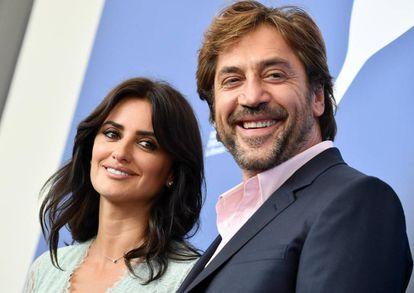 Penélope Cruz and Javier Bardem at the presentation of 'Loving Pablo.'