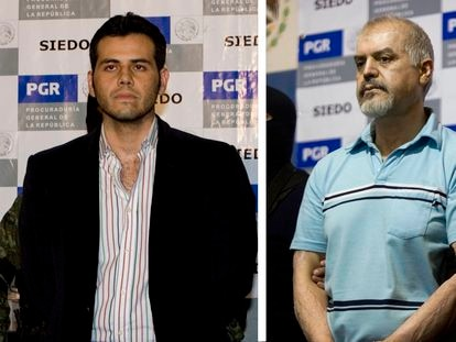 Vicente Zambada (left) after his arrest in 2014, and Eduardo Arellano Félix in 2008.
