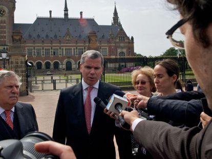 The Chilean ambassador, Felipe Bulnes, on Wednesday at the Hague.