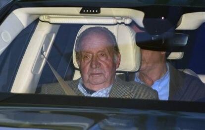 Emeritus king, Juan Carlos I, in January.