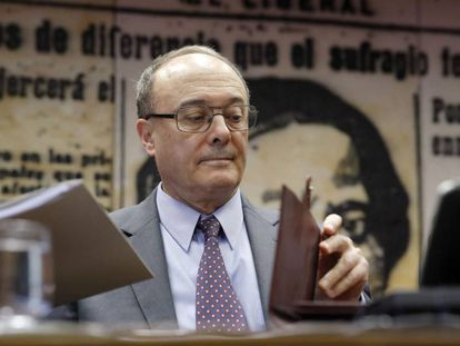 Bank of Spain governor Luis Linde.