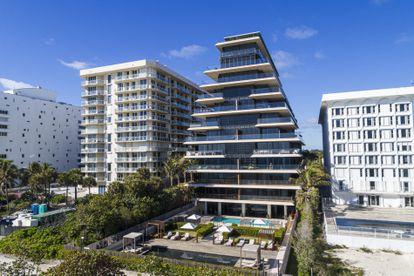 Beachfront luxury condos in Miami, Florida.