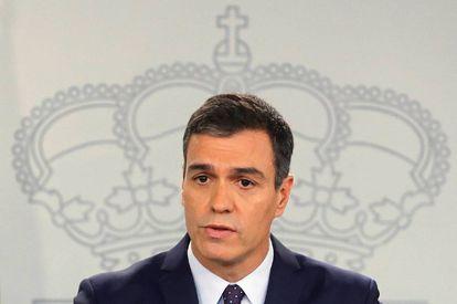 Caretaker PM Pedro Sánchez responds to the Supreme Court ruling.