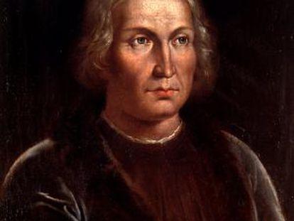 A portrait of Christopher Columbus.
